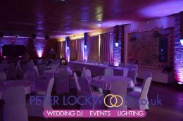 Purple-uplighting-in-Antrobus-Village-Hall-Cheshire