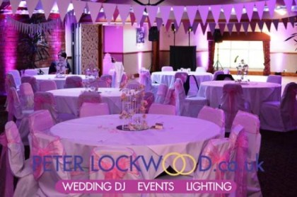 dusty-pink-wedding-mood-lighting-in-the-horseshoe-suite-at-the-Boholt Country Park