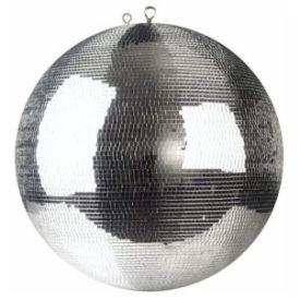 silver glitter mirror ball