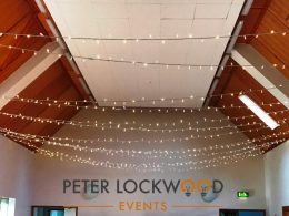 Abbeystead Village Hall Fairy Light Canopy