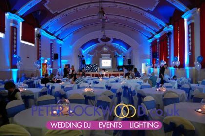 Chadderton town hall uplighting hire