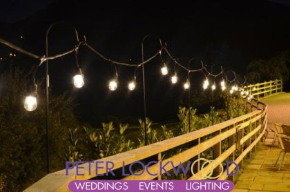 rustic wedding festoon lighting