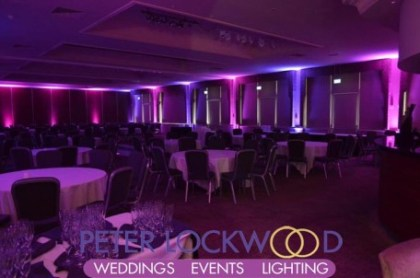 The-Mere-Golf-Resort-&-Spa-pink-and-purple-event-lighting-in-the-Mere-Suite