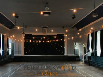 New Mills Town Hall Festoon Lighting
