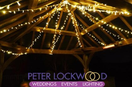 clock tower fairy lit canopy