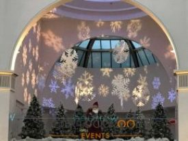 Snowflake Christmas lights hire