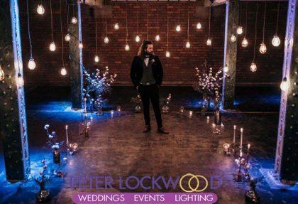 vintage edison wedding lighting for a industrial wedding
