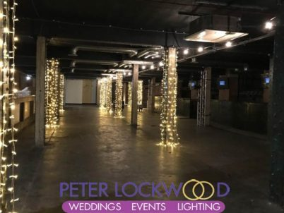 cotton sheds column fairy lights