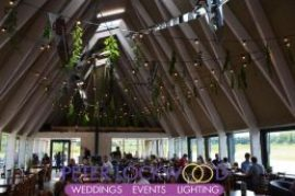 Nature Reserve Wedding Lighting