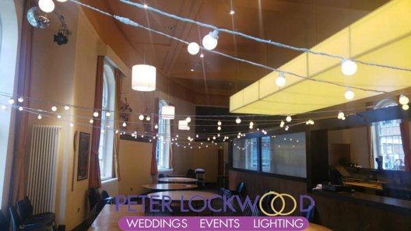 Bluecoat Chambers Wedding Festoon Lights hire