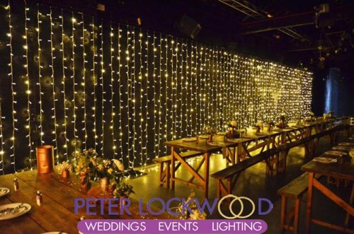 large wedding fairy light backdrop