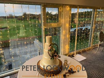 hurlston hall wedding lighting