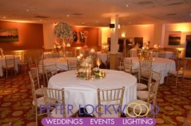 wedding uplighting in the Terrace Suite