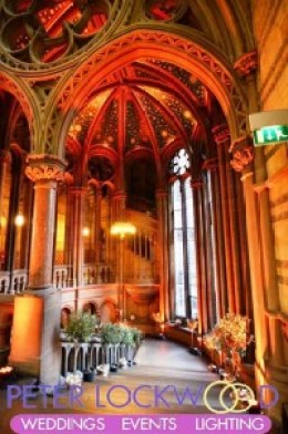 orange-wedding-lighting-on-the-grand-starcase-in-manchester-town-hall