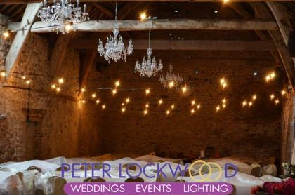 wedding festoon lighting