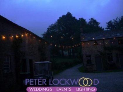 rustic festoon lighting