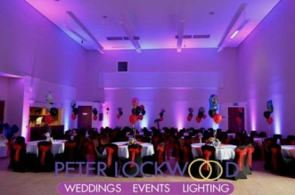 Irish World Heritage Centre wedding Uplighting
