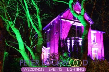 pink wedding house Building Illumination
