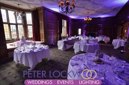 purple wedding lighting at inglewood manor.