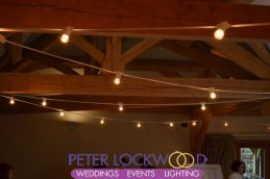 white cable festoon lighting