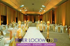 gold wedding lighting