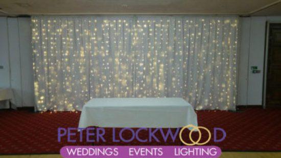 wedding fairylight backdrop