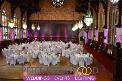 wedding lighting in rochdale town hall