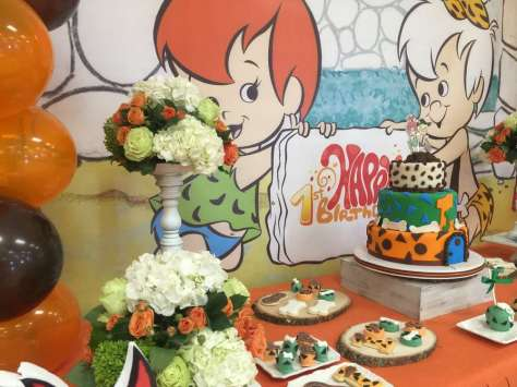 Flintstones Pebbles and Bamm Bamm Theme Party Decoration 3