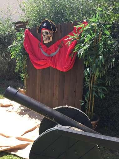 Pirate Theme Birthday Party Photo Backdrop