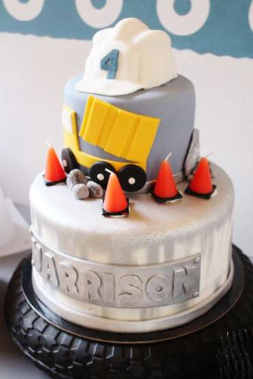 Construction Theme Birthday Party Cake 2