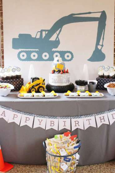 Construction Theme Birthday Party Decoration 3