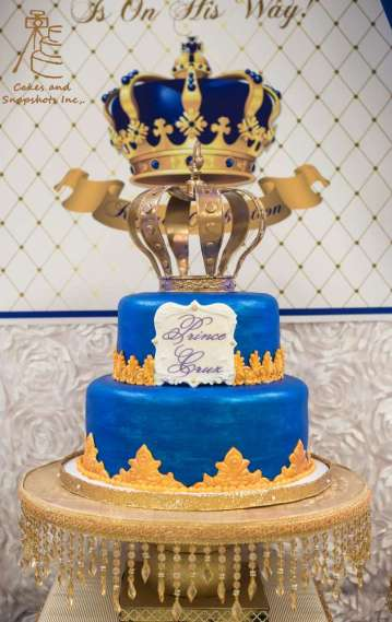 Royal Prince Theme Baby Shower Cake 1
