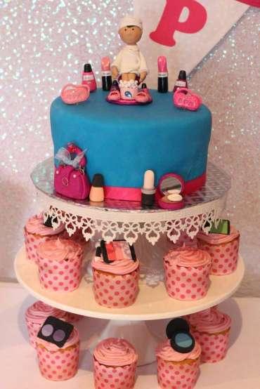 Spa Theme Birthday Party Cake 2