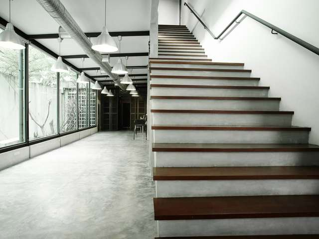 stairs to the second floor of imagerom