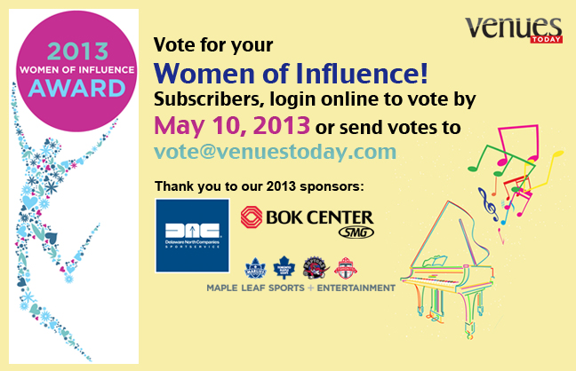 Subscribers, Vote for the 2013 Women of Influence Awards!
