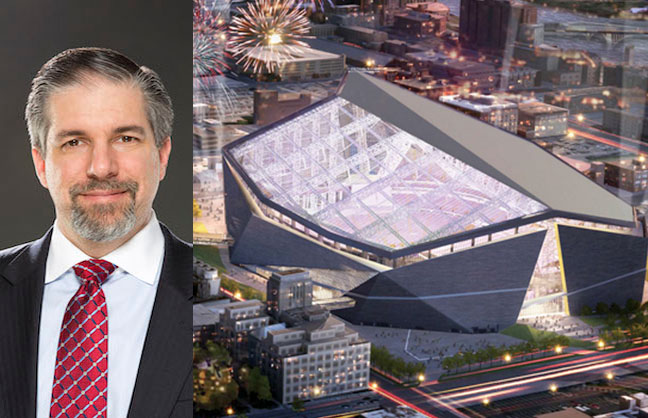 Talty to helm Vikings Stadium
