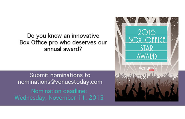 Nominate a 2016 Box Office Star!