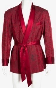 hugh hefner´s rote Morgenmantel Kimono