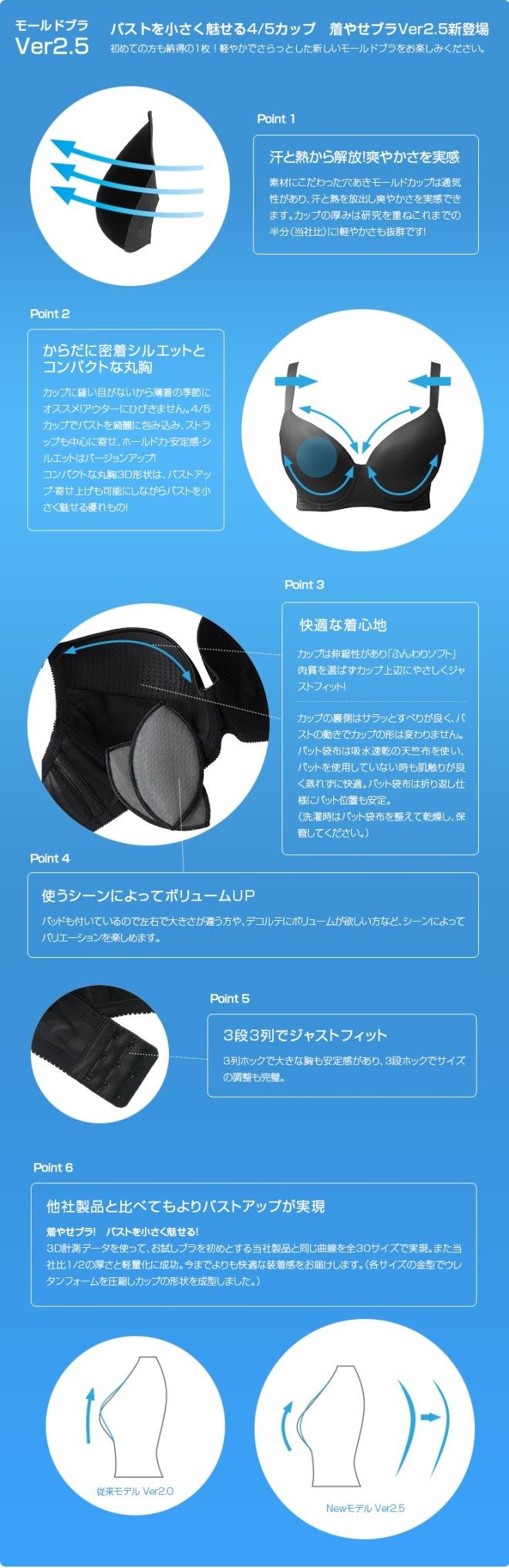 モールドブラVer2.5 商品の特徴説明 mold-brassiere