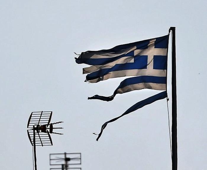 Φθαρμένη Σημαία πάνω από την Αθήνα την περασμένη εβδομάδα
