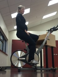 Indoor cycling while pregnant