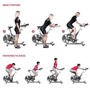 Indoor cycling posture