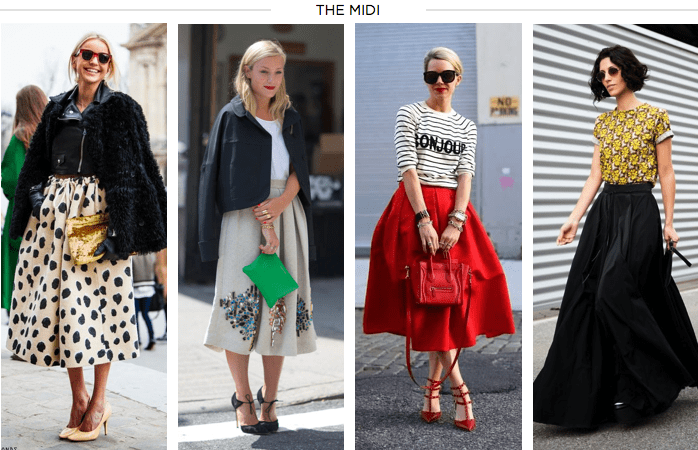 Image result for fall trend the midi skirt