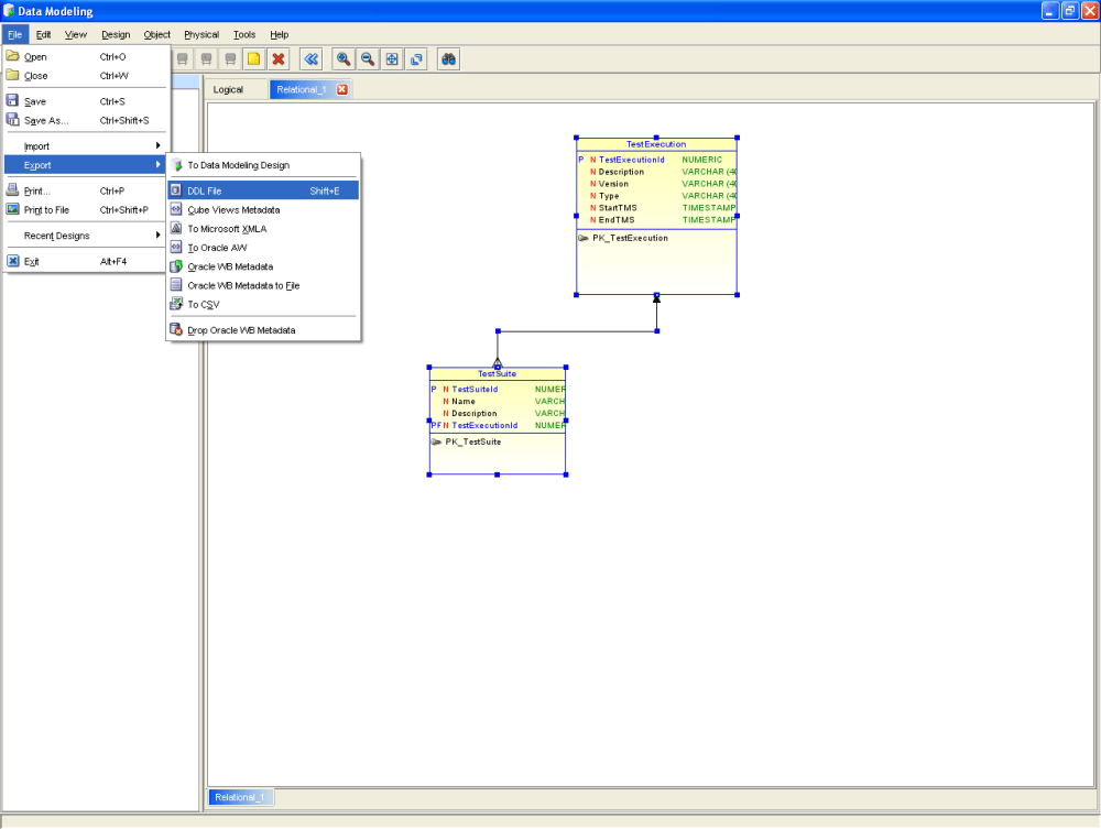 Finally a good tool for Data Modeling: Oracle SqlDeveloper Data Modeling (5/6)