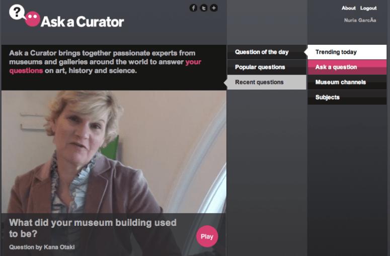 """Imagen del nuevo portal """"Ask a Curator"""""""