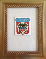 """US Navy"" 13 x 9.75 (inches) $420 gold frame"