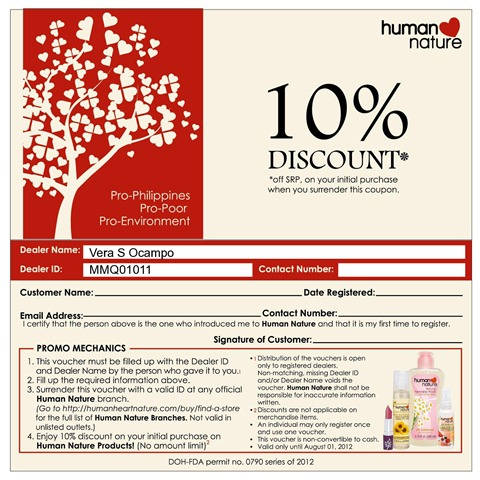 humannature voucher