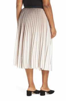 NIC+ZOE Stripe Pleat Skirt, Alternate, color, MULTI