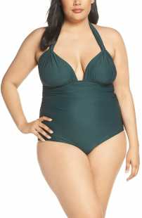 LENNY NIEMEYER Adjustable Halter Maillot One-Piece Swimsuit, Main, color, ATLANTIC
