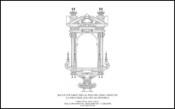 Aprobado el boceto de los faroles para el trono de nuestros sagrados titulares